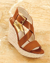 MK Giovanna Leather Wedge