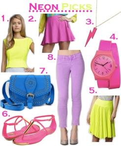 Neon Pops of Color